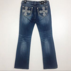 Miss Me Dark Denim Bootcut Embellished Jeans 32